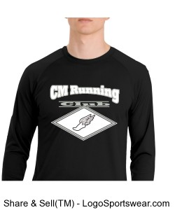 Sport-Tek® Wicking and Anti-Microbial Long Sleeve T-Shirt Design Zoom